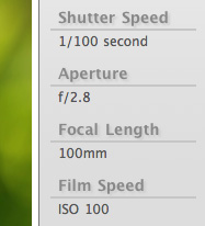 Exif display example